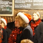 Charity carol singing in the pubs December 2014