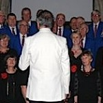 Performing with the boys from the Swindon Male Voice Choir