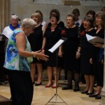 Mary from Aston choir conducting with pizzazz!