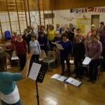 Rehearsing for Albert Hall