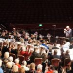 The Grimethorpe Colliery Band and the Corey Band with conductor Bill Relton