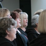 The altos in full voice