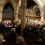 Joint choirs performing One Voice